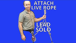 Lead Solo Climbing - How to Unweight the Live Rope