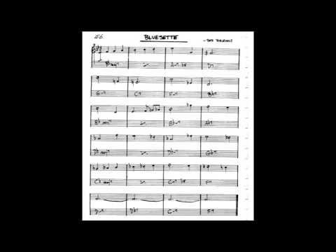 Bluesette  Play along - Backing track (C key score violin/guitar/piano)