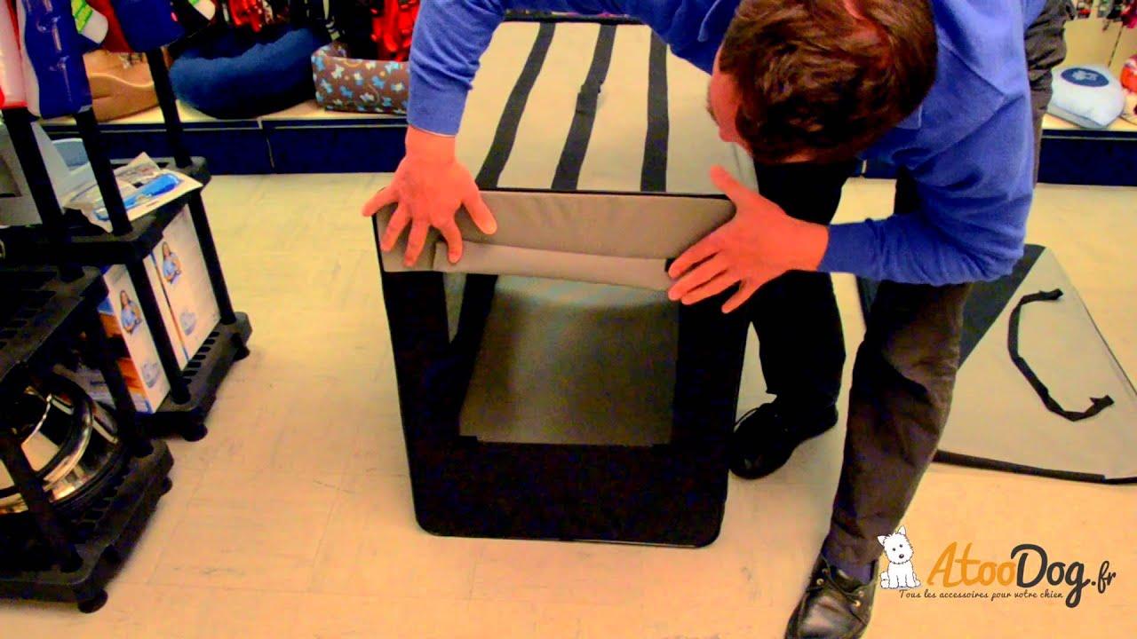 cage en tissu pour chien atoodog youtube. Black Bedroom Furniture Sets. Home Design Ideas
