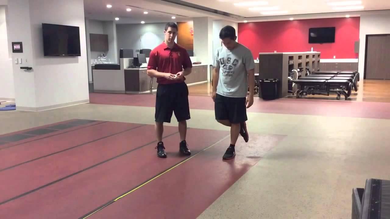 Single Leg Hop Test for Distance* - YouTube