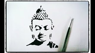 How to draw Buddha Painting tutorial simple easy step by step for kids. Drawing: Buddha Painting