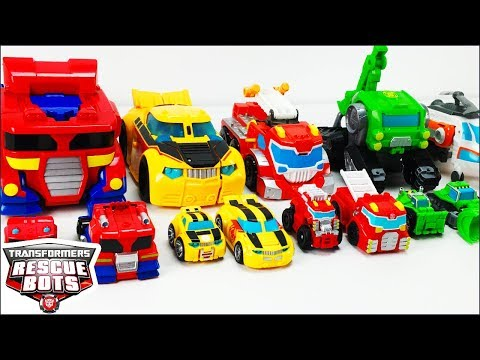 Transformers Rescue Bots Toys Collection Optimus Prime Bumblebee Heatwave Boulder And Blades Figures