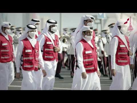 مشاركة الجيش الأبيض في المسير الوطني 2020