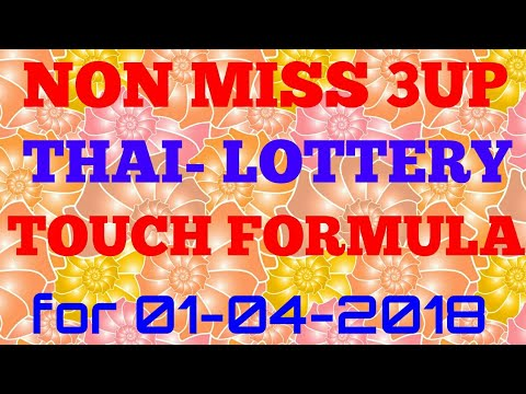Thai lotto 2018 3up touch formula | Thailand lottery results | how to win Thai lotto with formula.