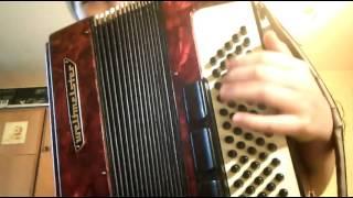 Видео урок на аккордеоне. #4 Гамма До мажор В ЛЕВОЙ РУКЕ