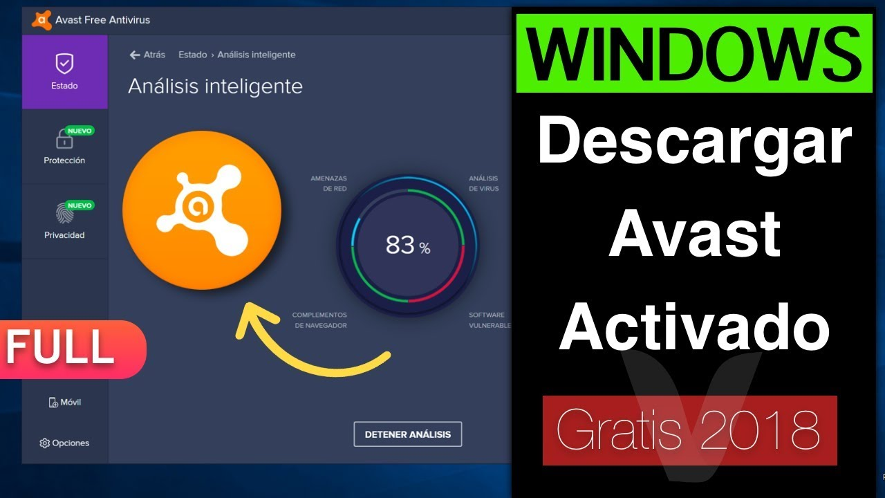 descargar avast gratis para windows 7 32 bits full