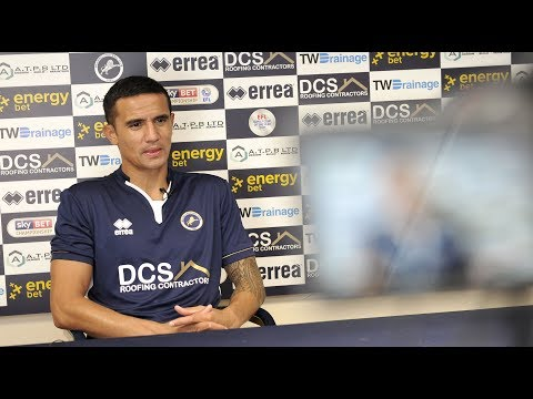 Tim Cahill speaks after agreeing to return to Millwall