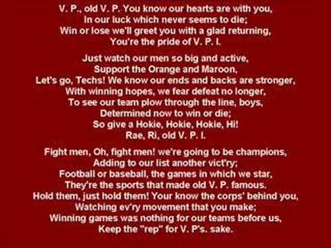 Virginia Tech Fight Song!!!