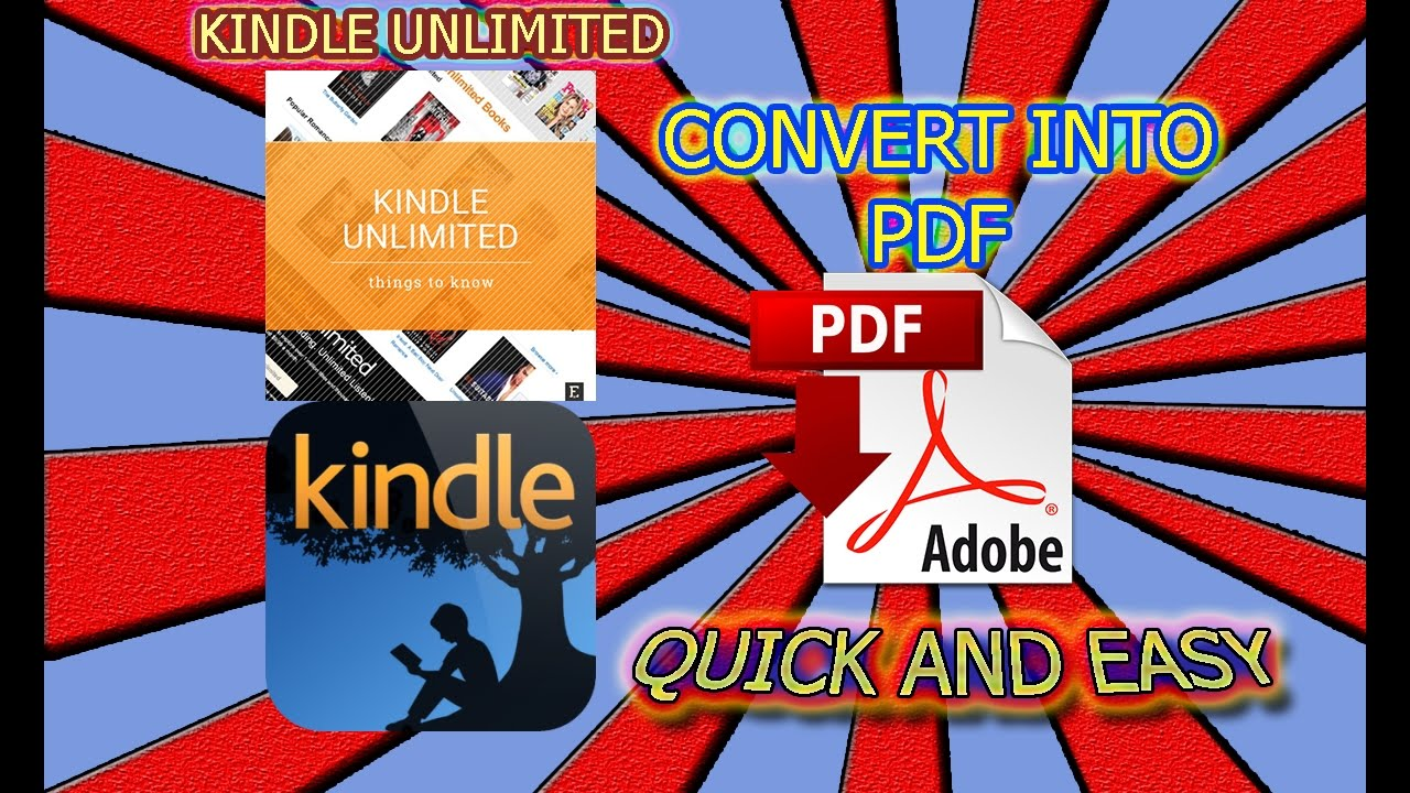 how to turn kindle into pdf