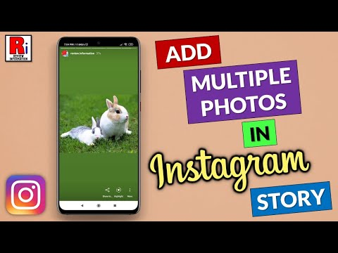 How to share multiple pictures on instagram story