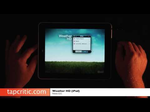 Weather HD iPad Review