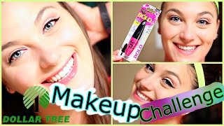 Dollar Tree Makeup Challenge! | TAG: Beauty On a Budget!