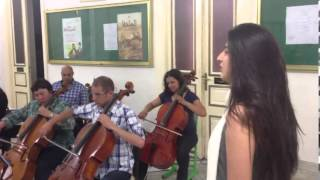 Gambar cover skyfall - Adele cover By ines Belayouni with orchestra