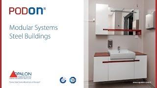 OPALON Prefabrik Yapılar Çelik Modül Hazır Bina Modüler Wc Duş PODON