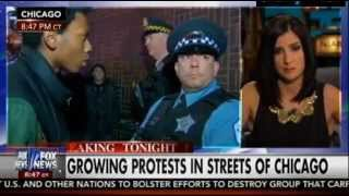 Punk STARES DOWN Chicago Cop Live on FOX - Chicago Protests (Pt 2)