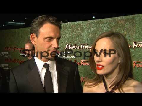 INTERVIEW - Liz Goldwyn, Tony Goldwyn on the event at Wal...