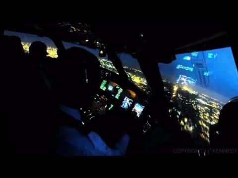 Night Landing: Final Approach into Accra, Ghana / DGAA