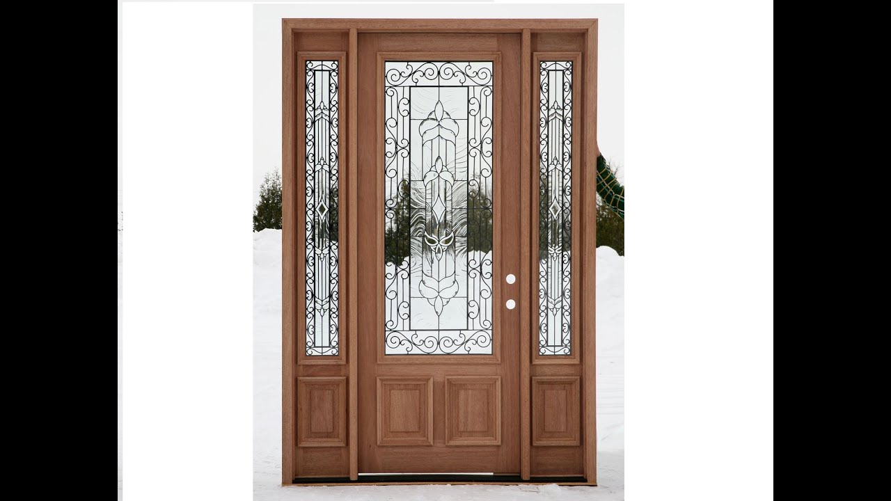 Wooden Front Doors With Glass Ideas Youtube