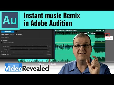 Instant music Remix in Adobe Audition