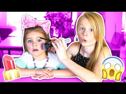 DOING MY 6 YEAR OLD SISTERS MAKEUP CHALLENGE! 😱💄