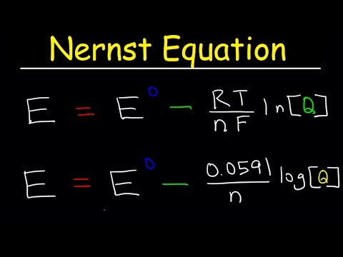 Nernst Equation Explained, Electrochemistry, Example Problems, pH, Chemistry, Galvanic Cell
