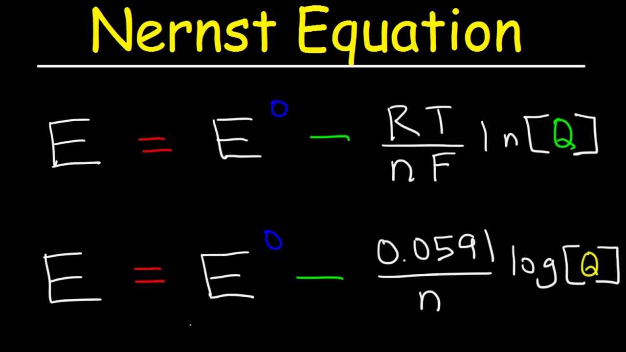 nernst equation explained, electrochemistry, example problems, ph