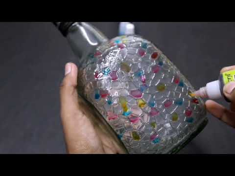 DIY | Glass Bottle Craft 3| best out of waste | Home decoration idea | Hand painted bottle