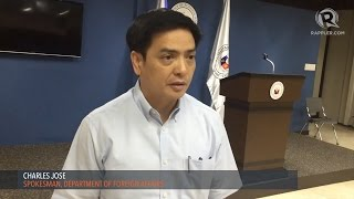 DFA Spokesman Charles Jose gives updates on Jennifer Dalquez