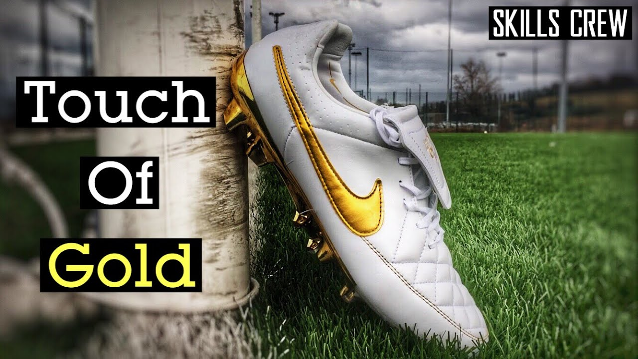 brand new c2b19 15bde TOUCH OF GOLD - RONALDINHO NIKE TIEMPO  TEST