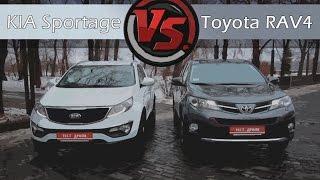 KIA Sportage VS Toyota RAV4. Сравнительный тест(Предлагаем Вашему вниманию сравнительный тест-драйв двух весьма популярных кроссовера, которые счастливы..., 2014-12-29T19:13:46.000Z)