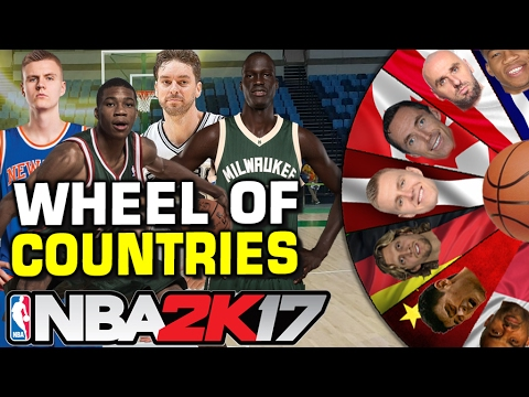 NBA WHEEL OF COUNTRIES