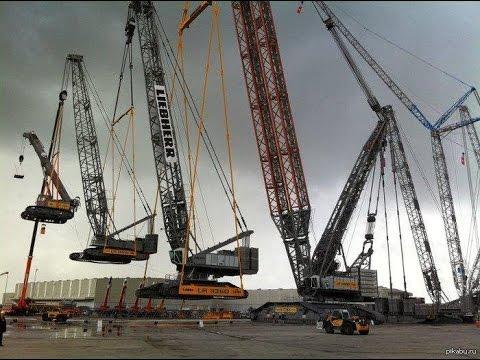 🔥Самый Большой Подъемный Кран в Мире   The Most Powerful Crawler Crane In The World 🔥