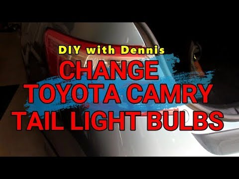 Change Tail Light Bulbs on a Toyota Camry