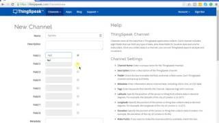 إنشاء قناة جديدة في thingSpeak - thingSpeak & MATLAB البرنامج التعليمي p.1