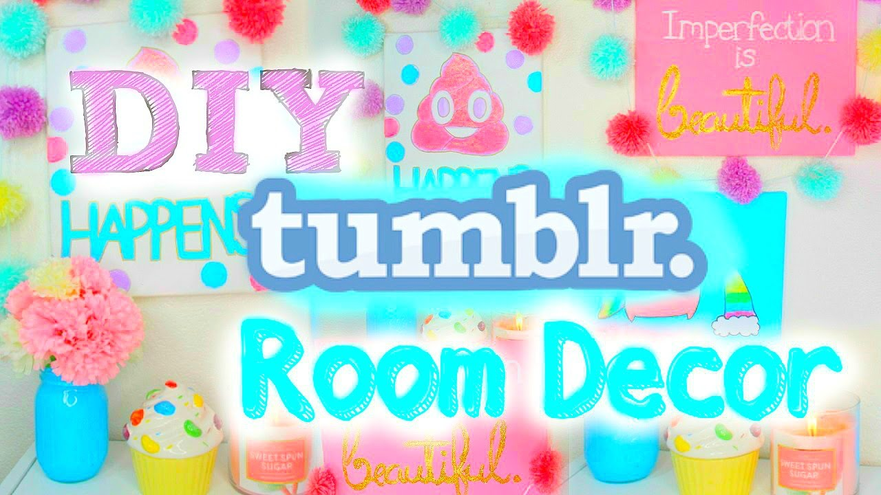 DIY Tumblr Room Decor 2015 Cute Easy Wall Art YouTube