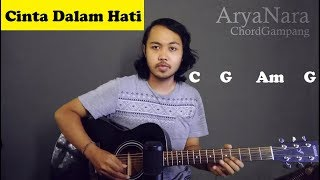 Chord Gampang (Cinta Dalam Hati - Ungu) by Arya Nara (Tutorial Gitar) Untuk Pemula