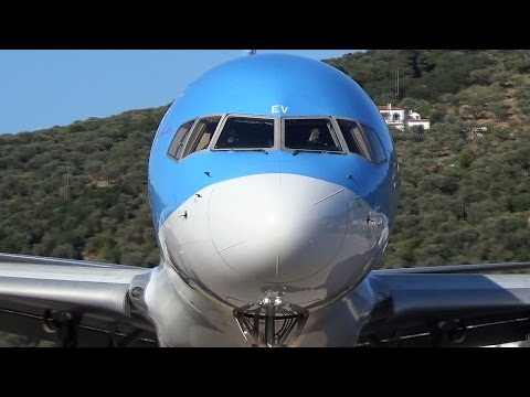 Thomson Boeing 757-200 - 2 SPECTACULAR TAKEOFFS from SKIATHOS - ATC Comms - JSI Planespotting!