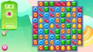🍭🍬Candy crash jelly LV015 Прохождение, уровень 15, три в ряд, развивающая игра на андроид
