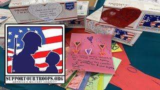 20,000 Valentines Cards (400lb worth) from us to the Troops