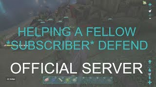 ARK SURVIVAL EVOLVED SERVER WIPE DEFENSE | SERVER INVASION | ARK OFFICIAL SERVER