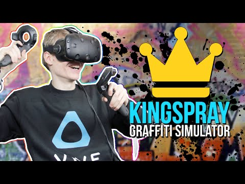 GRAFFITI SIMULATOR IN VIRTUAL REALITY! | Kingspray VR (HTC Vive Gameplay)