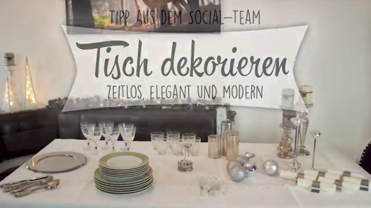 Tischdeko Modern weihnachts tischdeko zeitlos modern