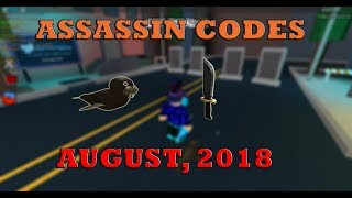 ROBLOX ASSASSIN CODES AUGUST 2018 [NOT CLICKBAIT]