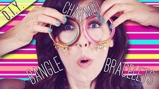 D.I.Y.  Charmed Bangle Bracelets! Thumbnail