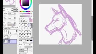 How I draw Cartoon-Semi Doberman Head drawings