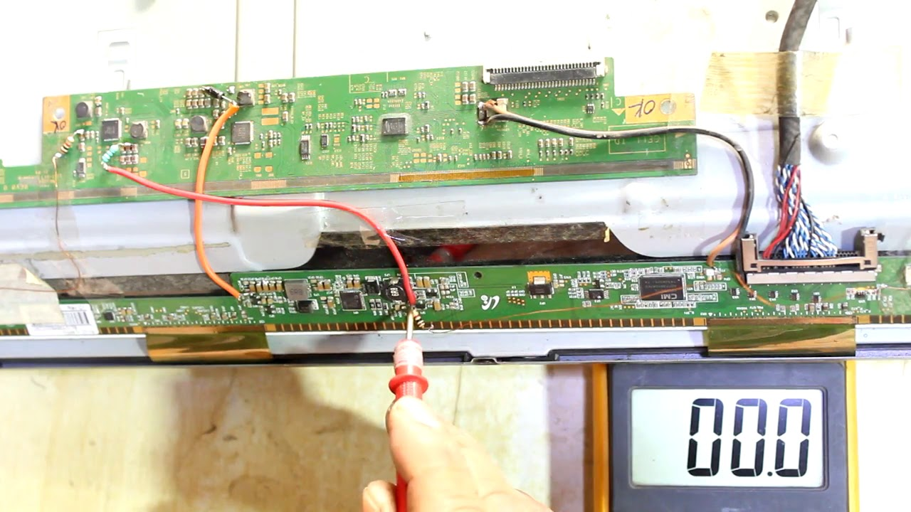 How To Repair Lg Led Tv No Image Problem Youtube