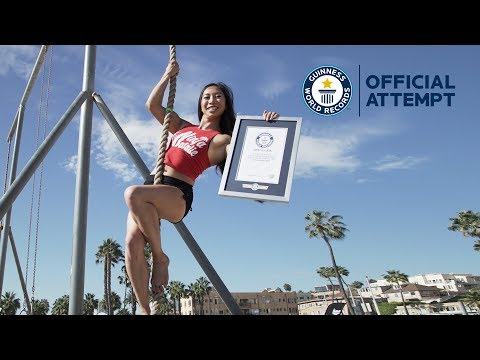 Guinness World Records Official Attempt | 5m Rope Climb