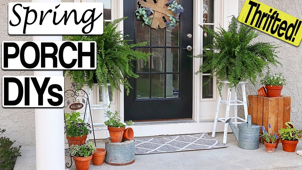 Spring Porch Decorating Ideas ⭐ DIY Farmhouse Front Porch Decor on a Budget