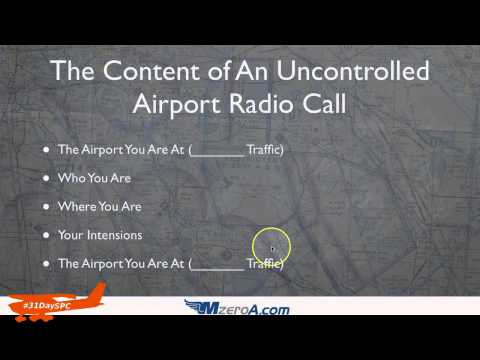 Uncontrolled Airport Radio Communications - Day 23 #31DaySPC