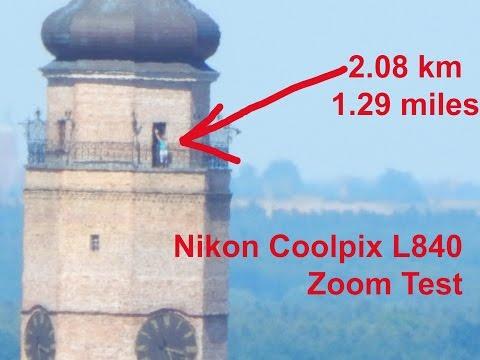 Nikon Coolpix L840 Zoom Test